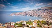 foto of suny  - Panoramic view on Sarande city at suny day - JPG