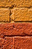 Colorful City - Orange Bricks poster