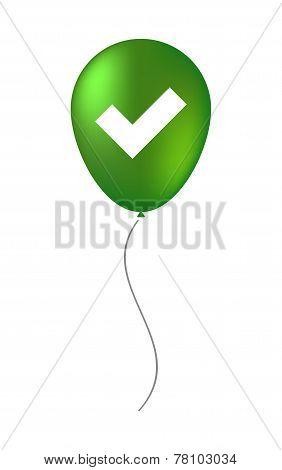 Balloon Illustration With A Survey Icon