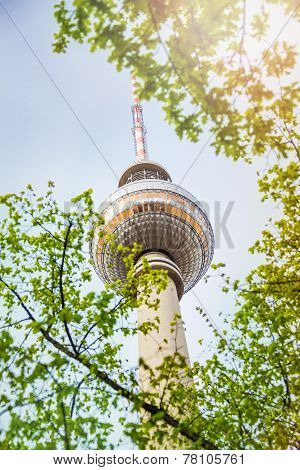 Berliner Fernsehturm View In Berlin, Germany