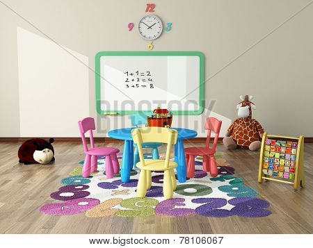 Playroom With Toys And Plush