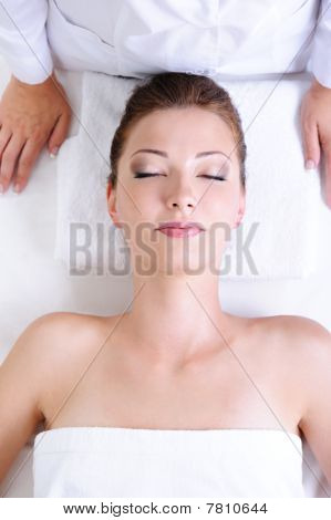 Woman Before Spa Procedures