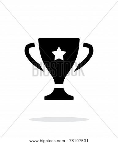 Favorite cup icon on white background.