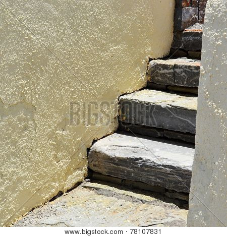 Stones staircase.