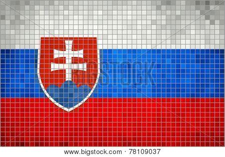 Mosaic Flag of Slovakia