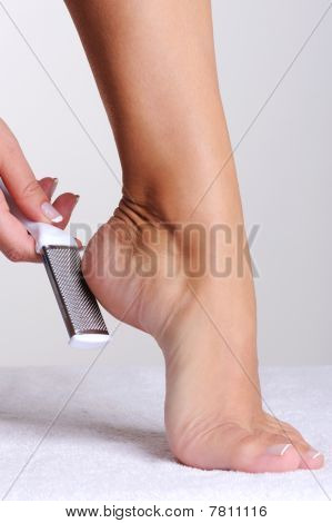 Beauty Treatment Of A Female Foot