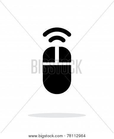 Wireless mouse icon on white background.