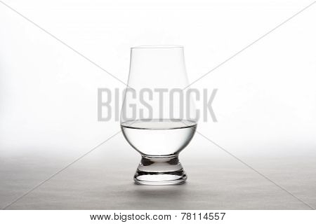 Vodka In A Crystal Tasting Glass