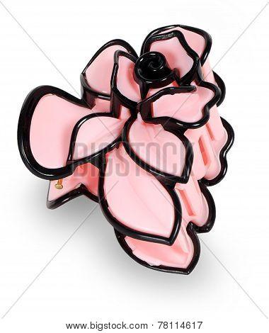 Pink Plastic Hair Clip