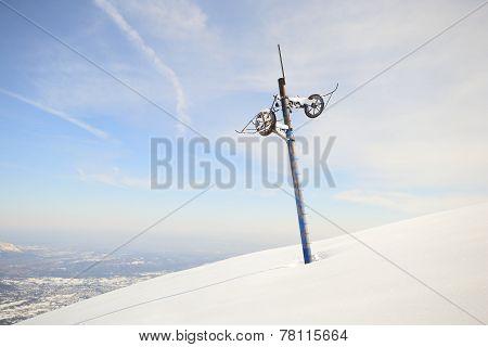 Abandoned Skilift Pillar
