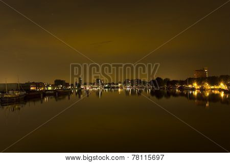 Haarlem city at night