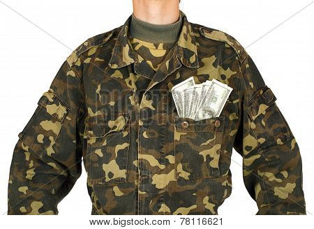 Army Uniform Jacket With Dollars