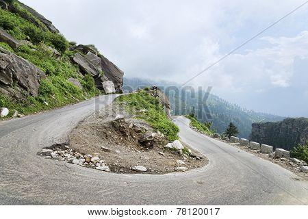 U Turn Road In Himalayas