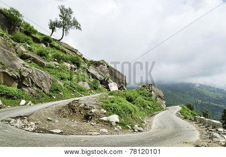 U Turn In Himalaya Mountains