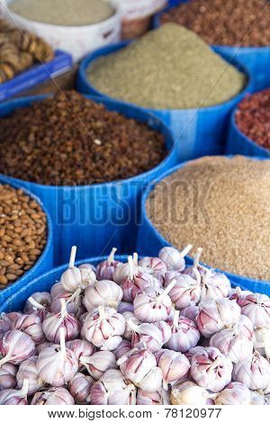 Detail Of Grain Food On The Market
