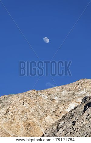 Moon Over Mountain Wall
