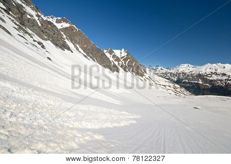 Spring Avalanches In The Alps