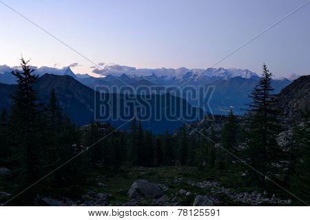 Monte Rosa, Twilight
