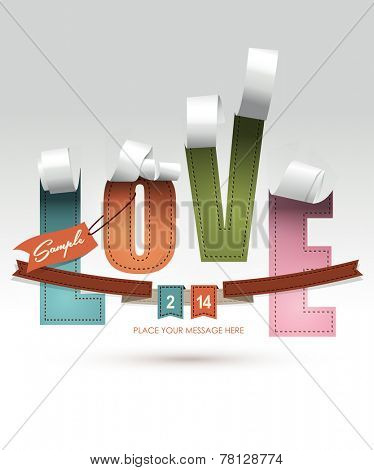 LOVE Font Type, Happy Valentines day card