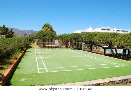 Volleyball Game Site At Luxury Hotel, Crete, Greece