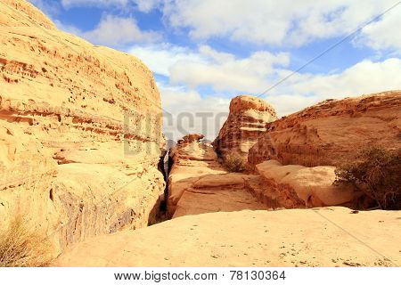 Wadi Rum desert.Wadi Rum Landscape.Jordan.