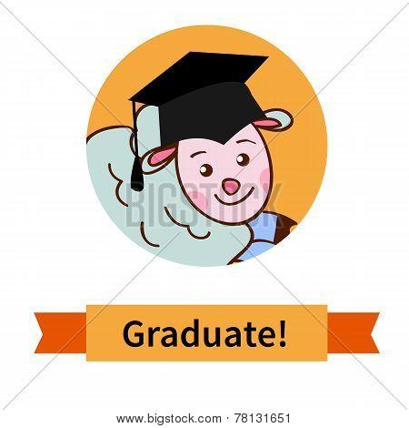 Happy graduate in cap graduation celebration