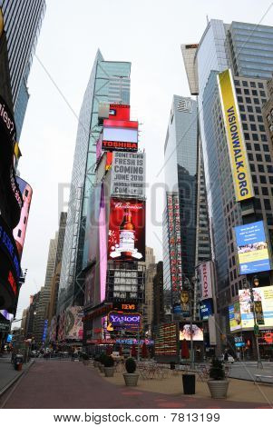 Pedestrian Mall In Times Square New York