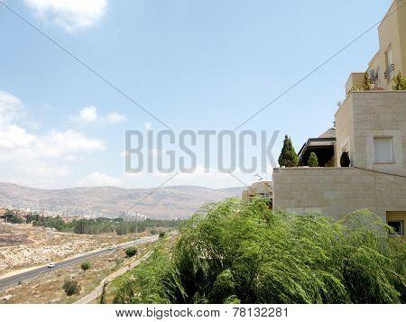 Karmiel View Of Houses On Hativat Etsyoni Street 2008