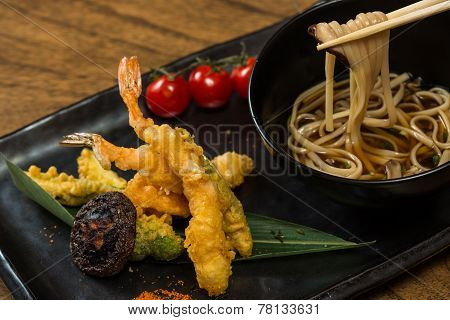 Tempura Shrimps with Vegetables