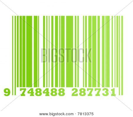 Eco Green Bar Code