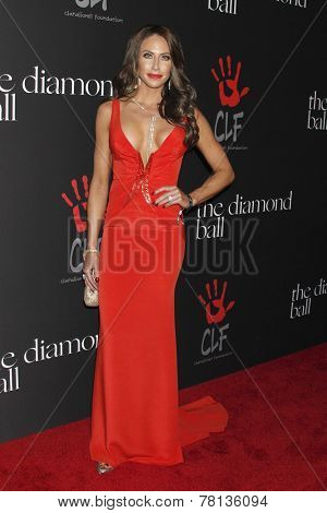 LOS ANGELES - DEC 11:  Holly Sonders at the Rihanna's First Annual Diamond Ball at the The Vineyard on December 11, 2014 in Beverly Hills, CA
