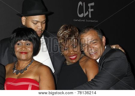 LOS ANGELES - DEC 11:  Rihanna's family, including Monica Braithwaite at the Rihanna's First Annual Diamond Ball at the The Vineyard on December 11, 2014 in Beverly Hills, CA