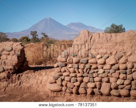 Conical Mountain Through Wall Landscape