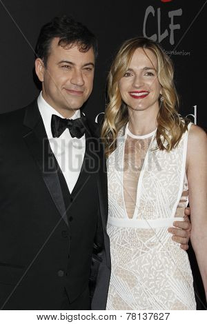 LOS ANGELES - DEC 11:  Jimmy Kimmel, Molly McNearney at the Rihanna's First Annual Diamond Ball at the The Vineyard on December 11, 2014 in Beverly Hills, CA