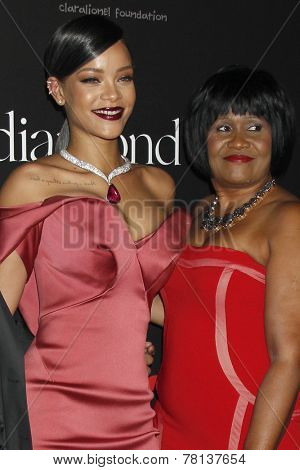 LOS ANGELES - DEC 11:  Rihanna, Monica Braithwaite at the Rihanna's First Annual Diamond Ball at the The Vineyard on December 11, 2014 in Beverly Hills, CA