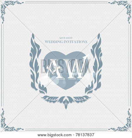 Wedding card flat. cards newlyweds named