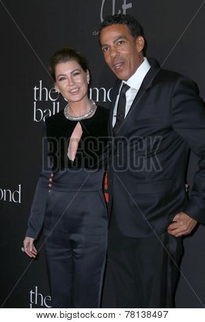 LOS ANGELES - DEC 11:  Ellen Pompeo, Chris Ivery at the Rihanna's First Annual Diamond Ball at the The Vineyard on December 11, 2014 in Beverly Hills, CA
