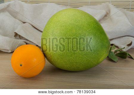 Green Pomelo And Orange