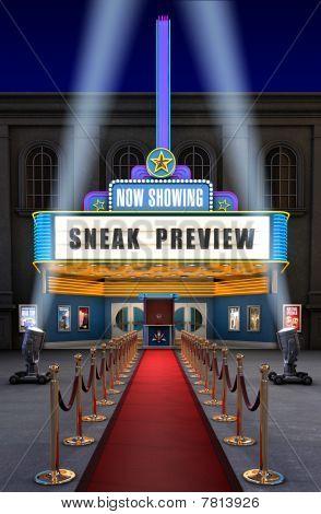 Movie Theatre & Ticket Box