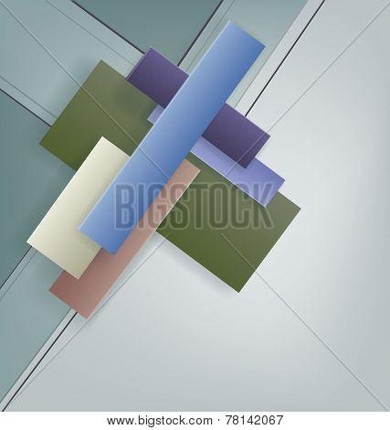 Art Deco style geometric bright design