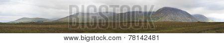 Panorama of National park Connemara.