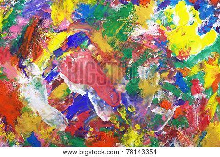 Impressionist Style Vintage Texture Or Background. Impressionist Background