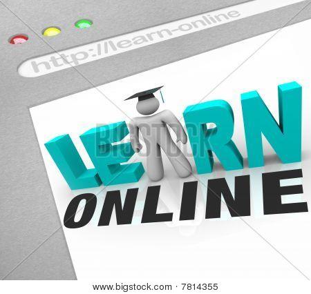 Lernen Sie Online - Web-Bildschirm