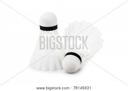 Badminton shuttlecock isolated on white background