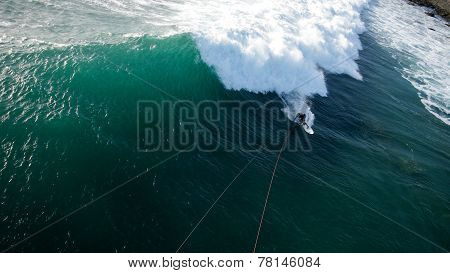 Kitesurfer from sky
