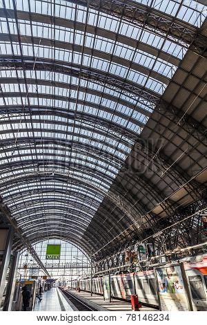 People Inside The Frankfurt Central Station