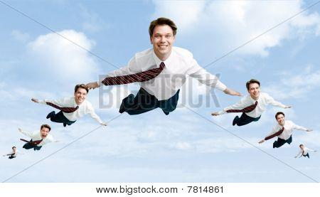 Flock Of Businessmen