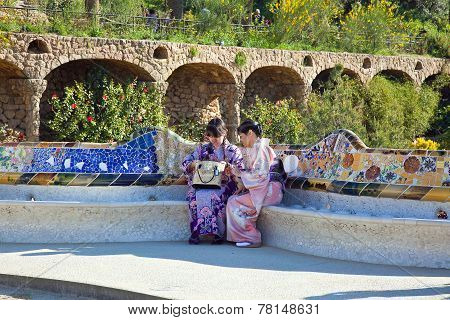 Barcelona. In The Park Guell