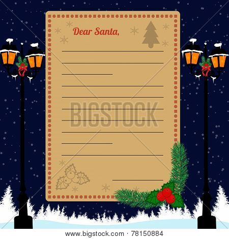 Christmas Letter To Santa Claus