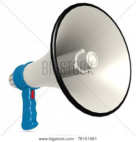 Isolated Blue Megaphone